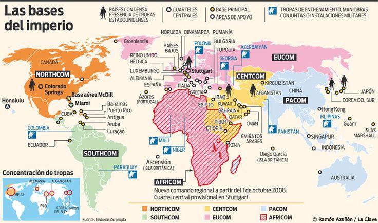 Bilderesultat for Tropas Militares Americanas y Bases alrededor del Mundo
