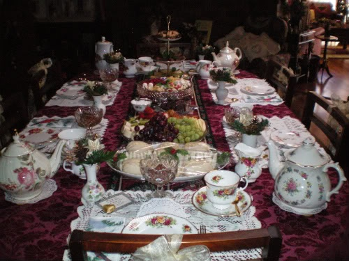 I used to host Victorian morning teas and this is how it looked all set up.    ~ Julie Craig ~