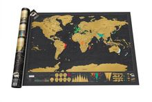Free Shipping 1Piece In Stock Deluxe Scratch Map / Deluxe Scratch World Map 82.5 x 59.5cm(China (Mainland))