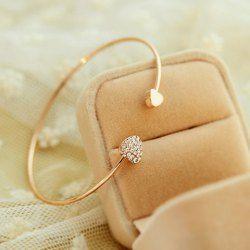 $3.36 Trendy Diamante Heart Embellished Sister Bracelet For Women