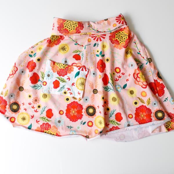 Short Maxi Skirt with Pocket for Girls