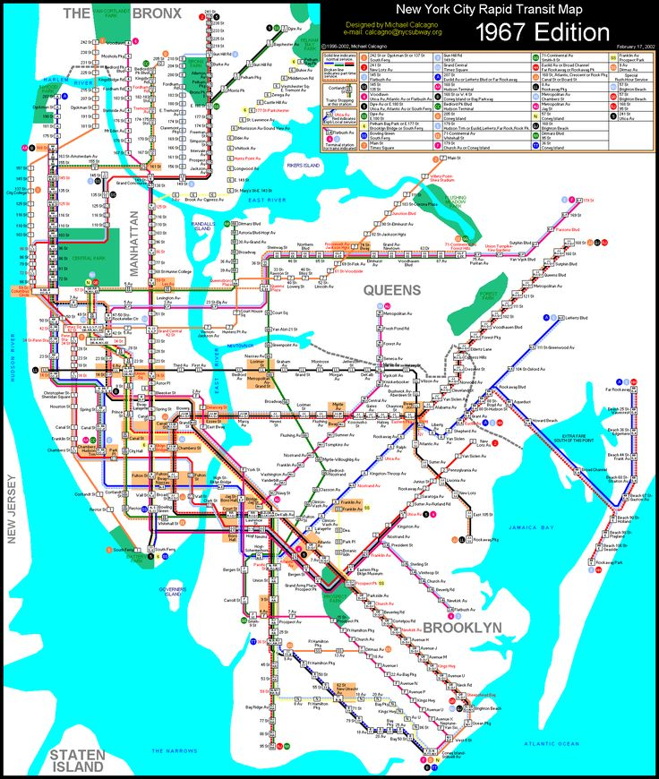 Brooklyn Subway System Misc Colours Used To Identify Your: Nyc Subway Map For Dummies At Usa Maps