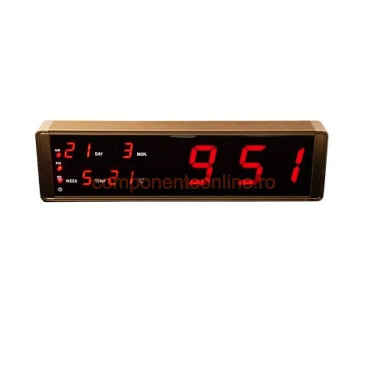 Ceas electronic cu alarma, termometru, calendar, 220V - 110966