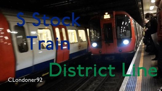 London Underground District Line S Stock train Mile End to Tower Hill Filmed on 8th December 2016