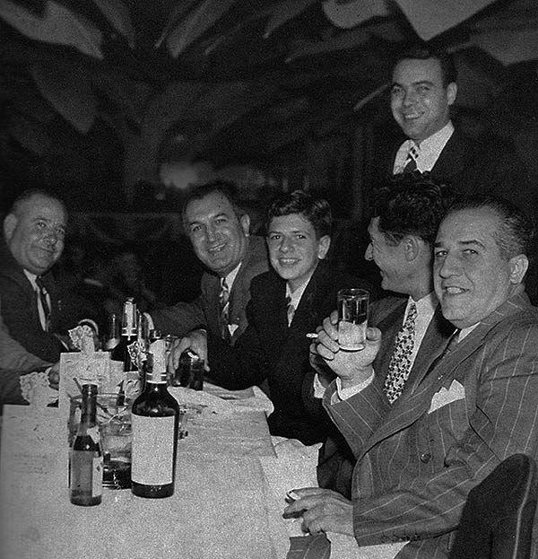 Copacabana 1946. (LR) Stefano Magaddino, Joe Bonanno, Salvatore Bonanno, Gaspar DiGregorio