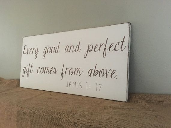 James 1:17 Nursery sign gender neutral Every Good by BetsysWood