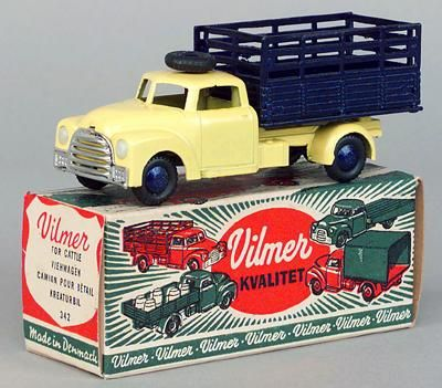 Vilmer (Denmark) No.342 Cattle Wagon - yellow cab, blue back
