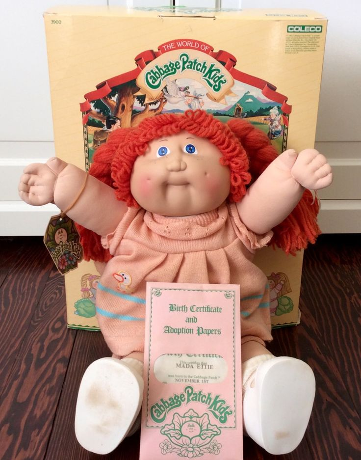 Vintage 1983 Cabbage Patch Kid RARE Red Head With Freckles & Blue Eyes IOB, Coleco Cabbage Patch Kids, Red Head Cabbage Patch, CPK Dolls by Lalecreations on Etsy https://www.etsy.com/listing/270141117/vintage-1983-cabbage-patch-kid-rare-red