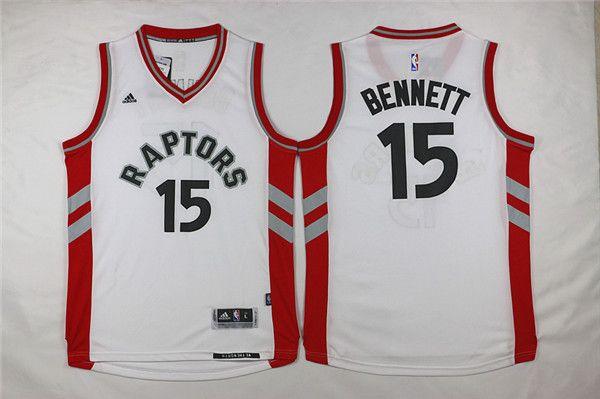 Raptors #15 Anthony Bennett White Stitched NBA Jersey