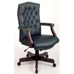 Pin it :-) Follow us :-)) AzOfficechairs.com is your Officechair Gallery ;) CLICK IMAGE TWICE for Pricing and Info :) SEE A LARGER SELECTION of   work smart office chair at http://azofficechairs.com/?s=work+smart+office+chair  - office, office chair, home office chair -  Traditional Leather Executive Chair with Padded Arms (Black Top Grain Leather) « AZofficechairs.com