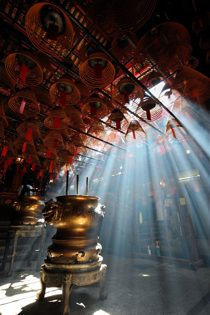 Man Mo Temple in Sheung Wan, Hong Kong