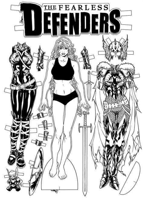 Fearless Defenders 4 Valkyrie paper doll have one