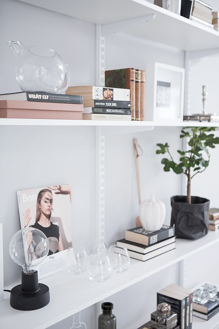 Love this gorgeous shelving styling.