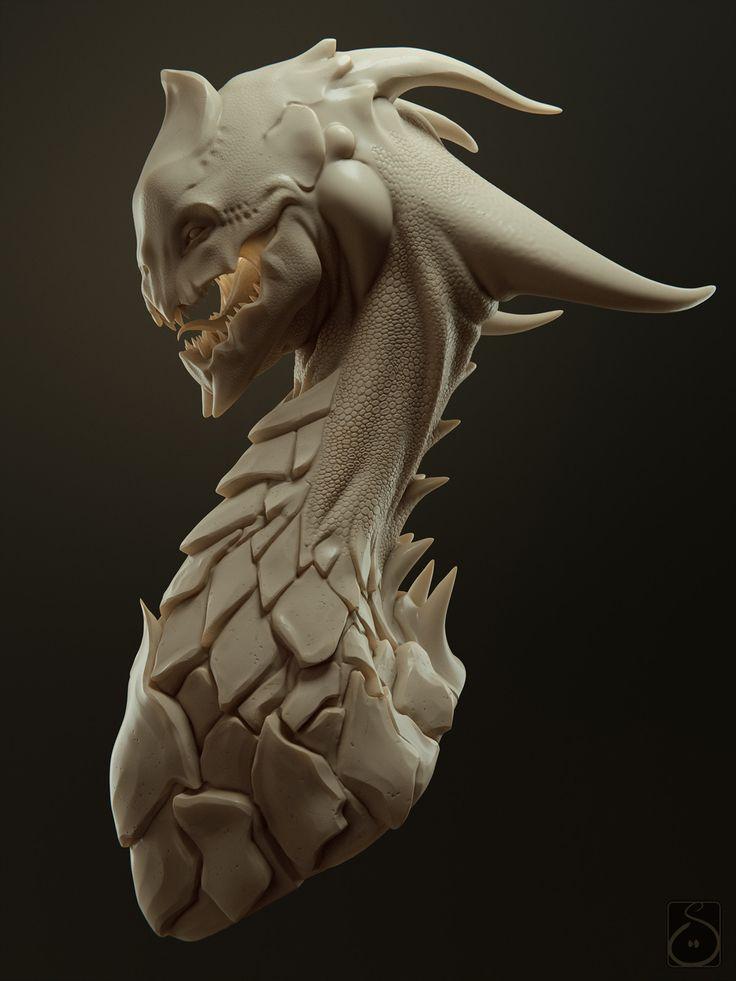 Dragon, Carsten Stueben on ArtStation at https://www.artstation.com/artwork/Y8XnK