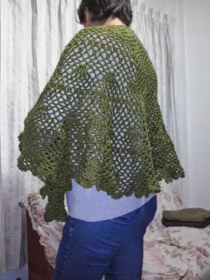 Lindo poncho verde musgo