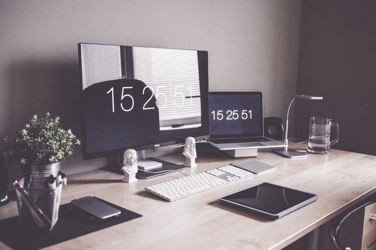 Free Image: Minimalist Home Office Workspace Desk Setup   Download more on picjumbo.com!