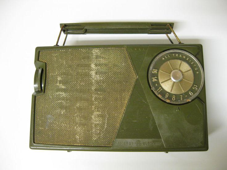 GREEN! GE P-809C AM Radio Vintage 1960's Era GENERAL ELECTRIC Works! #GENERALELECTRIC