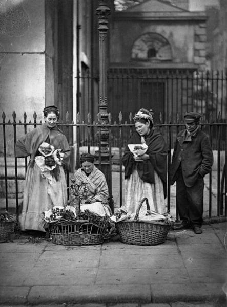 Flower vendors from circa 1880.