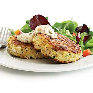 Recipe Makeover: Healthy Crab Cakes Recipes: 1 2 Mayo, Crabs Cakes Recipes, Fun Recipes, 1 2 Plain, Healthy Crabs Cakes, Fat Organizations, Cooking Lights, Organizations Yogurt, Fresh Oregano