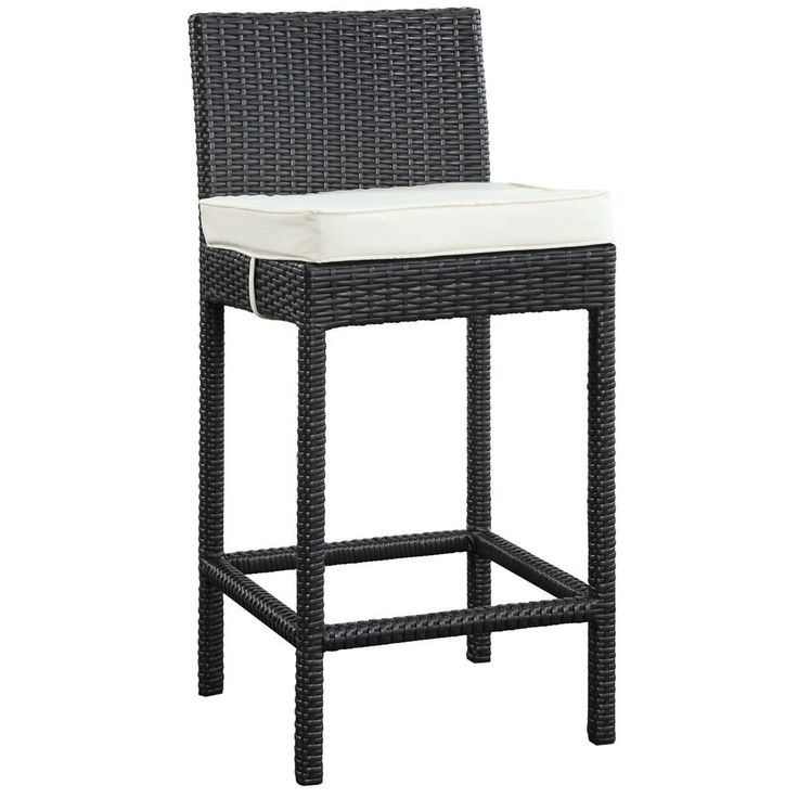 Modway Lift Espresso/ White Outdoor Patio Bar Stool (Stool In Espresso  White),