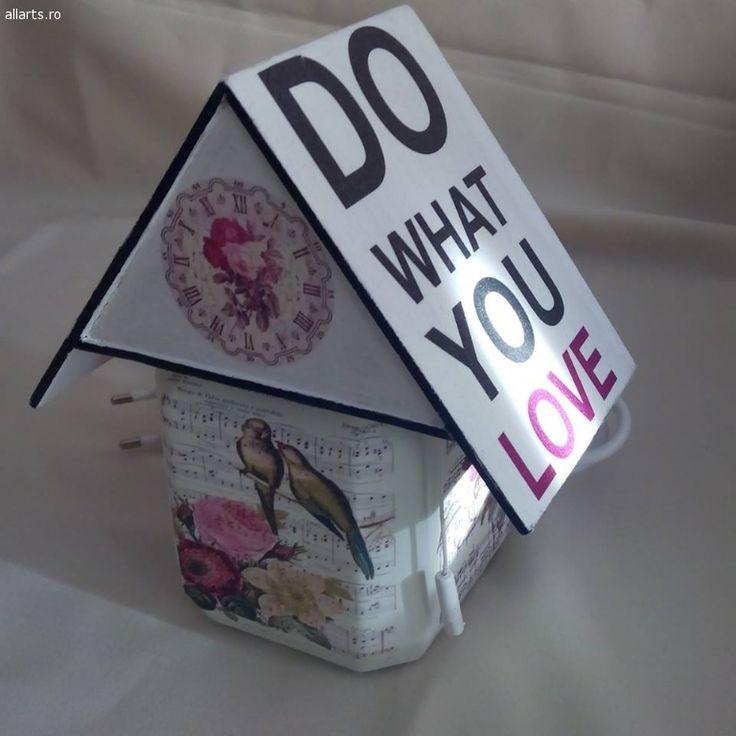 "Design Obiecte decorative Veioza ""do what u love"""