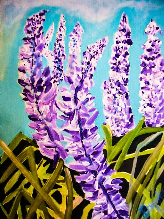 Summer Glory  9x12 Original mixed media by BluberryHillBoutique