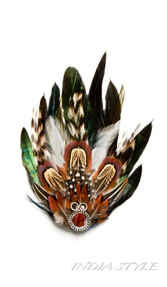 Заколка для волос с перьями птиц, перья, бохо стиль, хиппи, Hairpins with feathers of birds, feathers, boho style, hippie. 2530 рублей