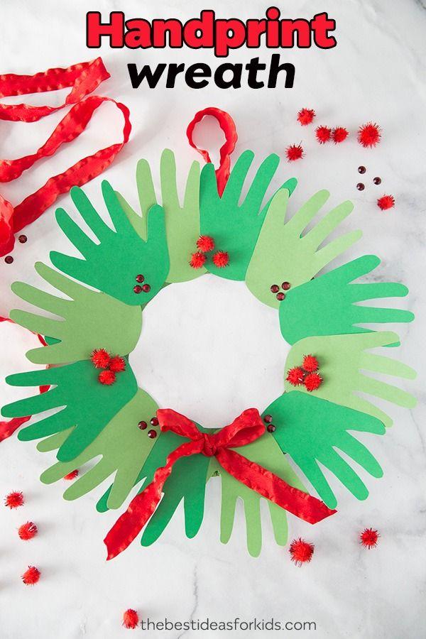 Handprint Wreath Christian Education Pinterest Christmas