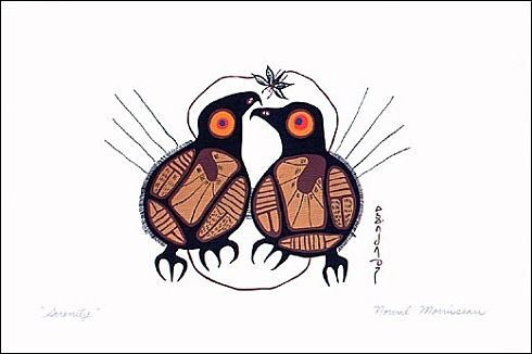 Woodlands Style  Norval Morrisseau - Serenity