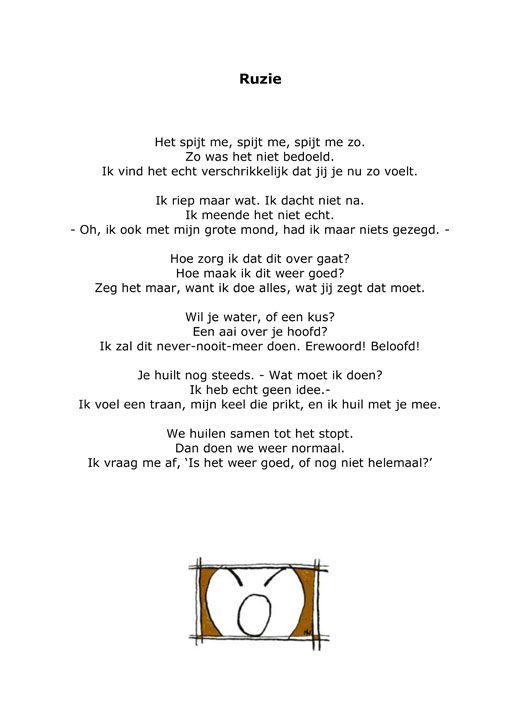 'Ruzie' uit Ík snap het niet' door Marieke Nijhof - Proud Mary webdesign text and more