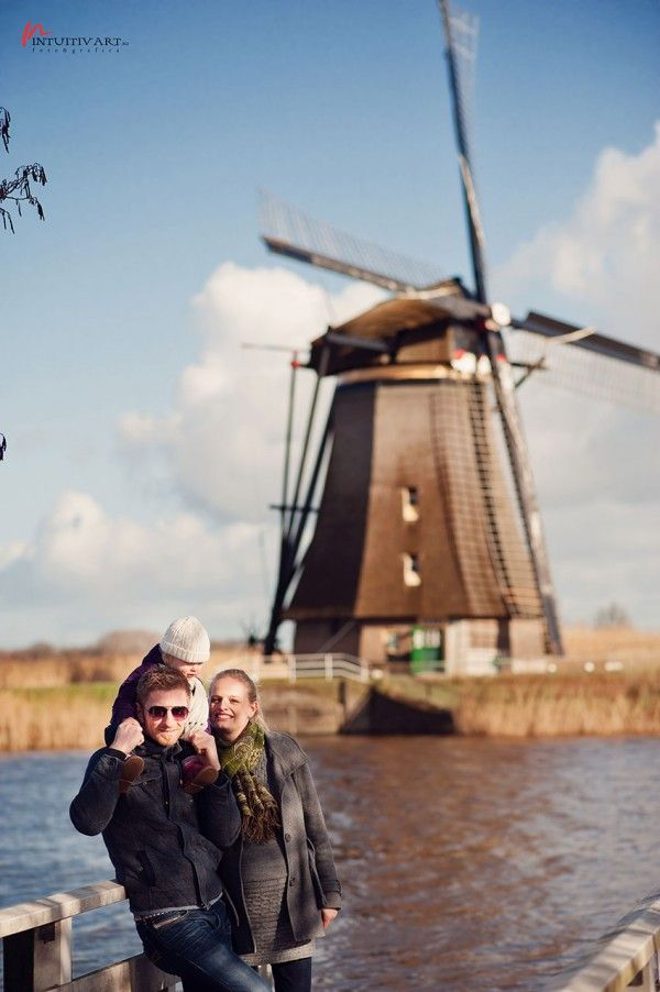 Romy, Tirza si Viola  Kinderdijk, Olanda