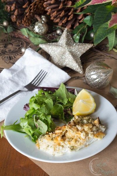 Delicious Holiday Fish Dinner - Cracker Crusted Cod.
