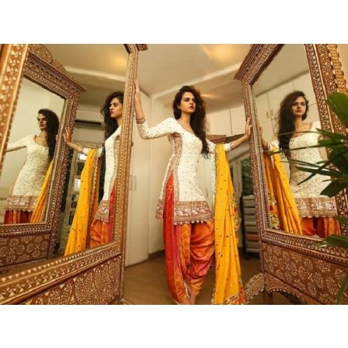 Saiveera New Arrival Latest White And Orange  Patiyala Salwar Suit_1615 Saiveera Fashion is a #Manufacturer Wholesaler,Trader, Popular Dealar and Retailar Of wide Range Salwar Suit, Dress Material, Saree, Lehnga Choli, Bollywood Collection Replica, and Also Multiple Purpose of Variety Such as Like #Churidar, Patiala, Anarkali, Cotton, Georgette, Net, Cotton, Pure Cotton Dress Material. For Any Other Query Call/Whatsapp - +91-8469103344.