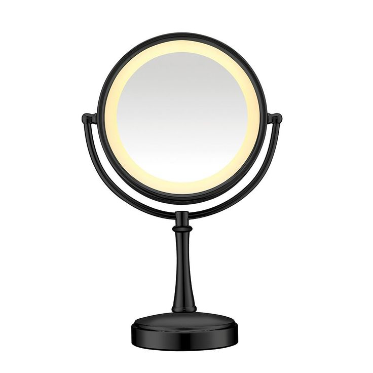 Conair Touch Control Lighted Vanity Mirror, Black