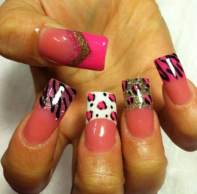 Acrylic nails by Thelma @ Thelma's VIP Nail Salon & Spa