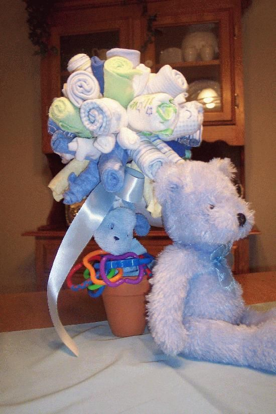 Baby Shower Centerpiece Washcloth Towel Bouquet
