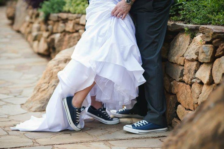 Bride and Groom Converse