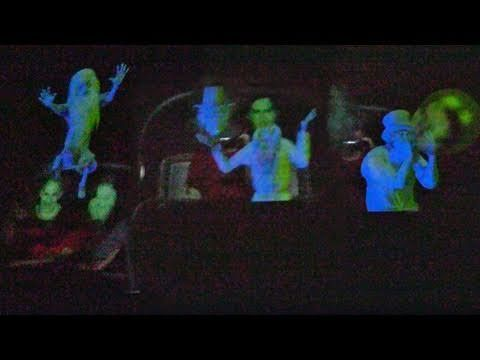First Look: New Haunted Mansion mirror effect with animated Hitchhiking Ghosts at Walt Disney World - YouTube