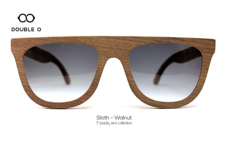 Sloth - Walnut / Handmade Wooden Sunglasses / Made in Crete,Greece