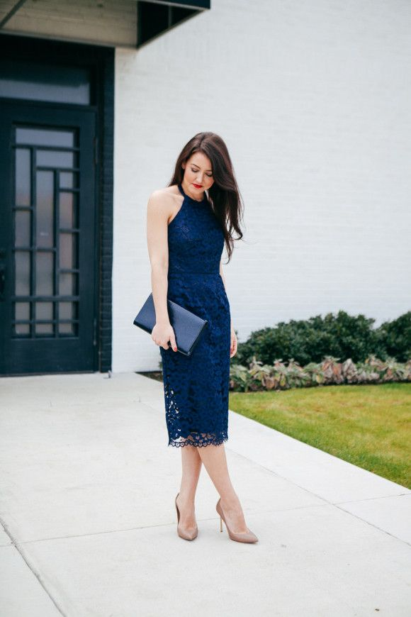 Navy Lace Dress // navy, spring trends, spring fashion, preppy, spring outfits