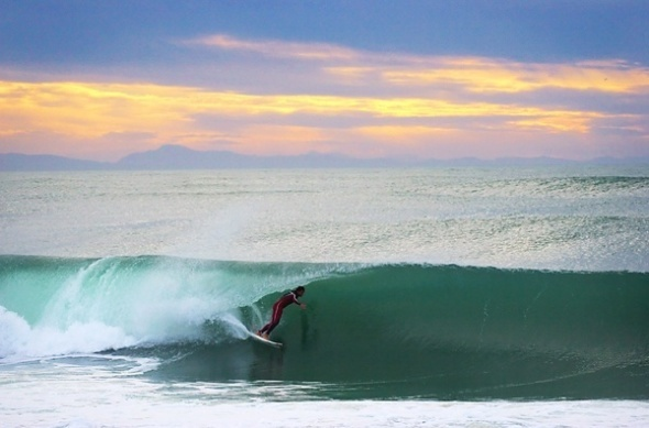 Surfing in Pays Basque