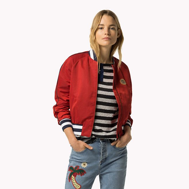 Tommy Hilfiger Cropped Bomber Gigi Hadid - apple red (Rood) - Tommy Hilfiger Bomberjacks - detailbeeld 1