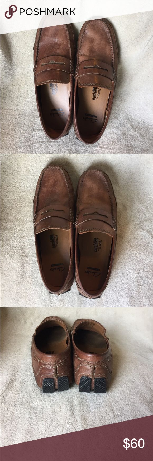 Clarks Mens Loafers Men's Clarks loafers with ortholite soft cushion inside.  Gently worn as shown in pictures on the leather.  Great shoe in good condition.  Worn mainly to church.  Son just out grew them. Clarks Shoes Loafers & Slip-Ons