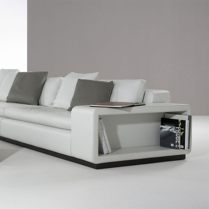 Marvelous Modern Style White Rolf Benz Sofa Price List With Bookcase