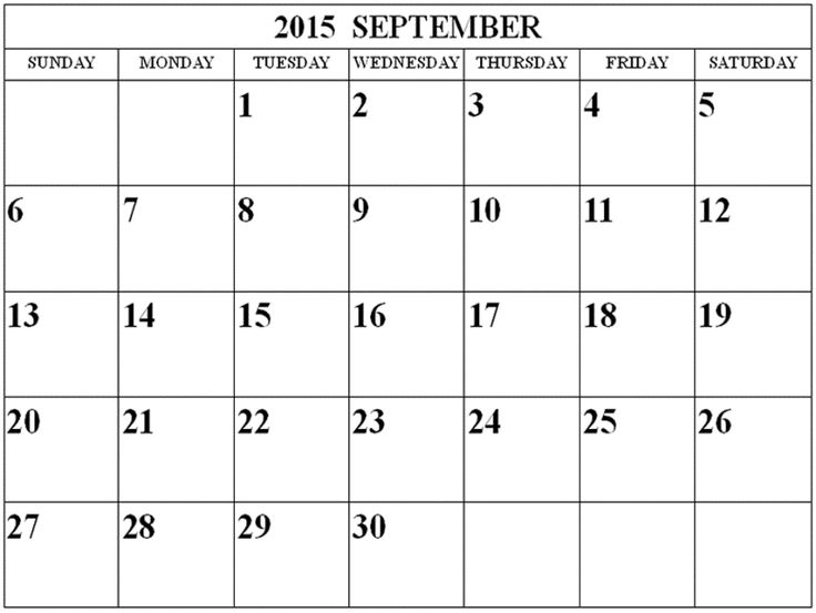 11 best free printable calendar september 2015 images