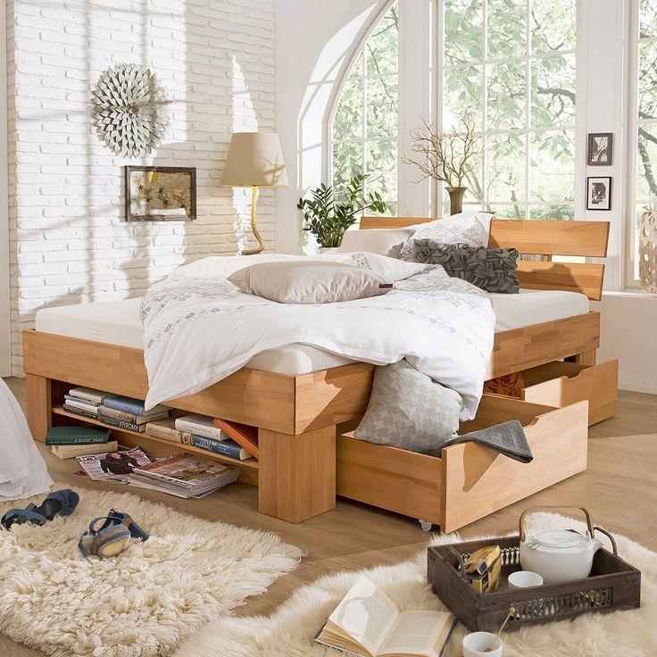 Die besten 25+ Massivholzbett Ideen auf Pinterest - schlafzimmer kiefer massiv
