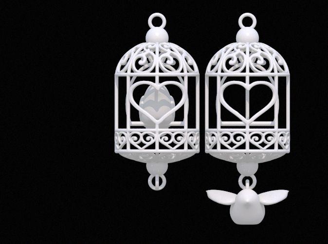 Bird in a Cage Earrings
