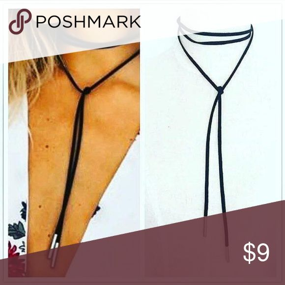 Shoelace Choker  Black and silver shoelace choker! Jewelry Necklaces