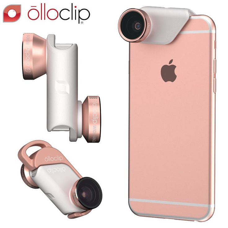 This limited edition rose gold 4-in-1 lens kit from @olloclip completely revolutionises photography with your iPhone 6S / 6S Plus. Pocket sized, this unique accessory allows you to transform your camera into a fish eye, wide-angle, 10x or 15x Macro lens. http://bit.ly/1RhYToi