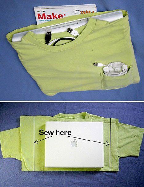 easy diy laptop case! OMG I luv this!!!!!!!!!!!!
